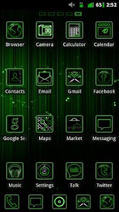 GO Launcher Green Neon Theme - screenshot thumbnail