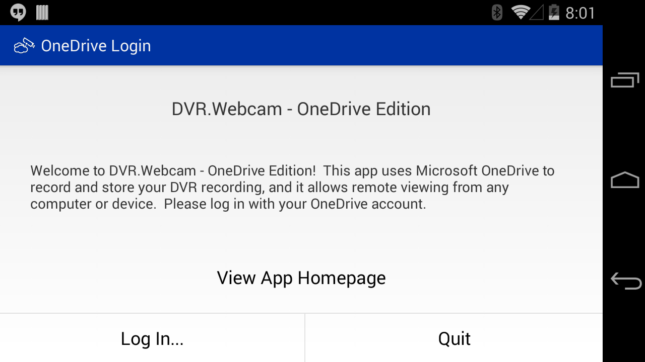 DVR.Webcam - OneDrive Edition- screenshot