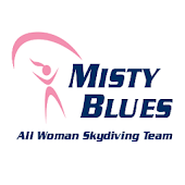 Misty Blues Woman Skydiving