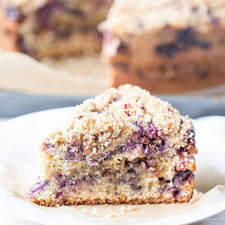 Blueberry Sour Cream Coffee Cake.