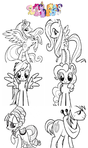 Coloring Book Pony Princess
