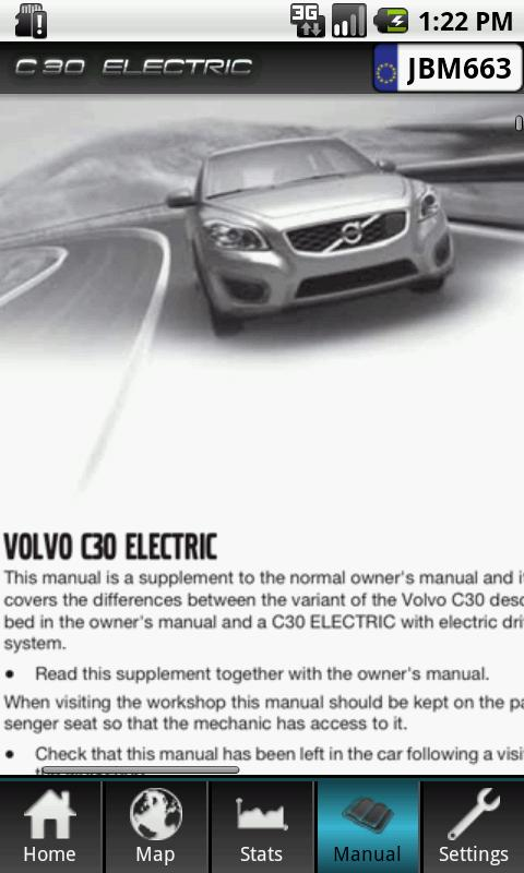 Volvo C30 Electric - screenshot