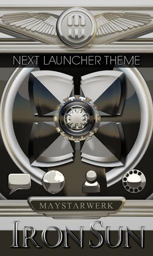 Next Launcher Theme Iron Sun
