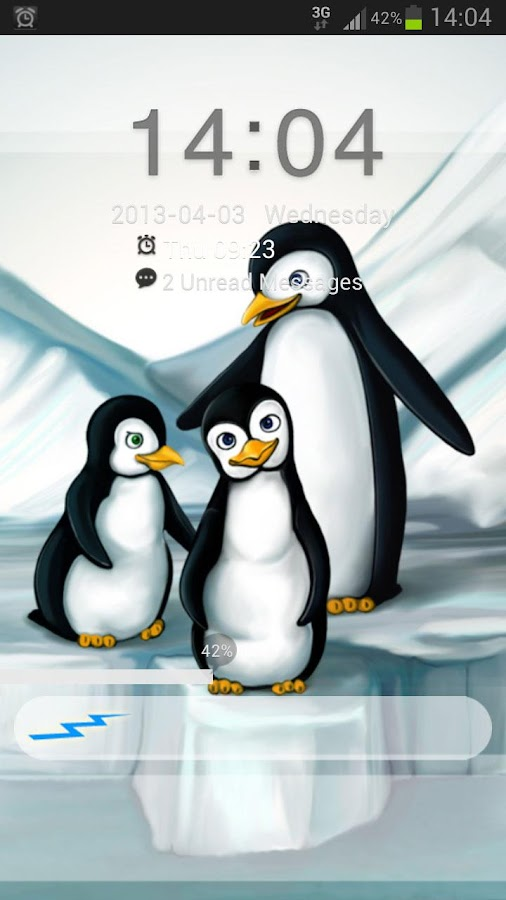 GO Locker Theme penguins- screenshot