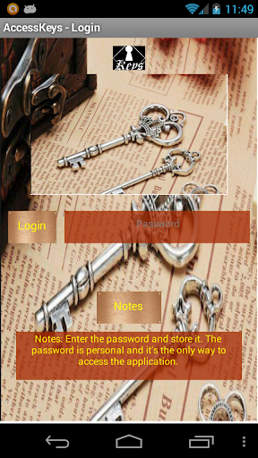 Password for Access Keys