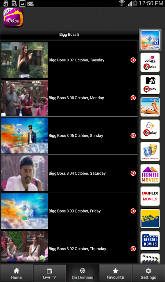nexGTv HD:Mobile TV, Live TV for Android Free Download - 9Apps
