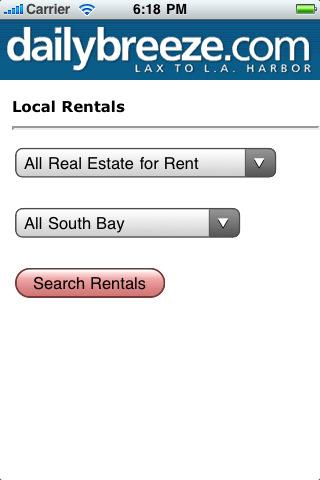 Local Rentals - screenshot