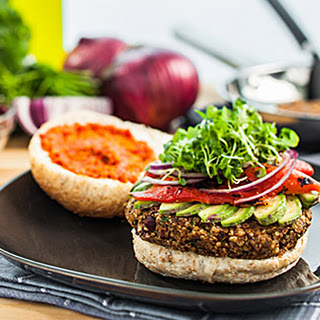 Quinoa Bean Burger.