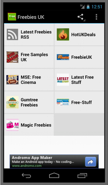 Freebies UK- screenshot