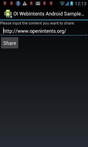 OI WebIntents Android beta
