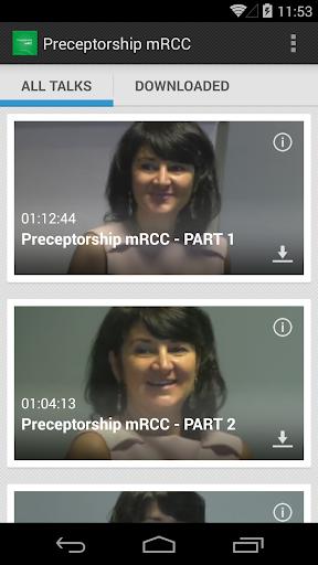Preceptorship mRCC