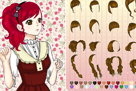 Fashion Girl Cartoon Makeup