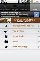 Screenshot of Lamb Recipes!