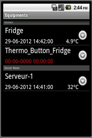 ThermoTrack Webserve- screenshot
