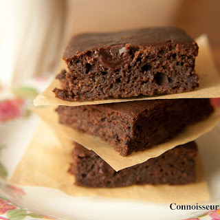 Rich Double Dark Chocolate Brownies.