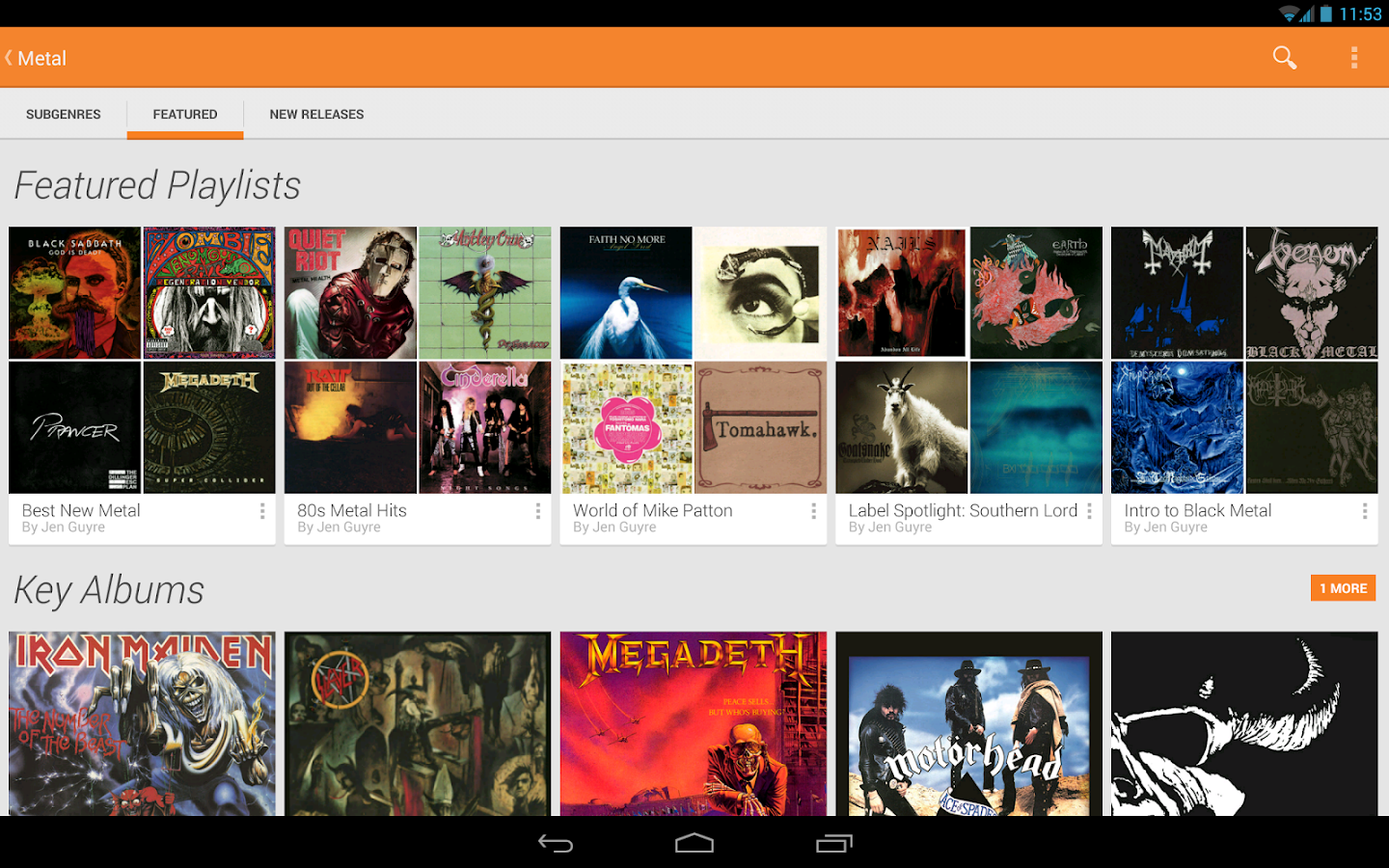 Google Play Music - screenshot