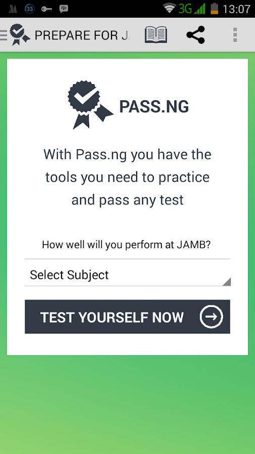 JAMB CBT [PASS.NG] - screenshot