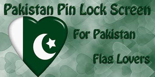 Pakistan Flag Pin Lock Screen