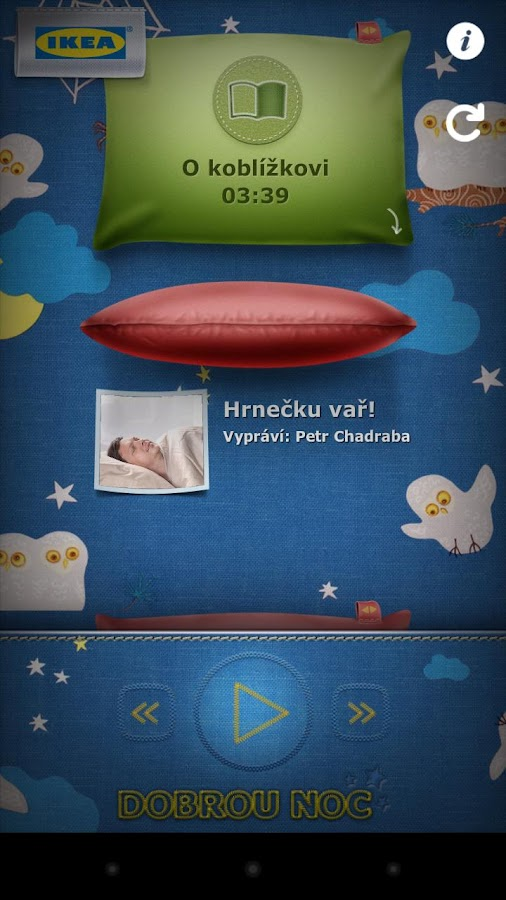 IKEA Dobrou noc - screenshot