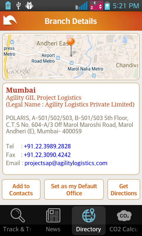 Agility Logistics- screenshot