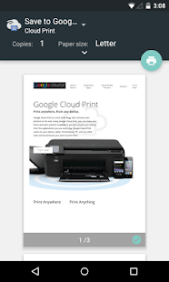 Google Cloud Print Capture d'écran