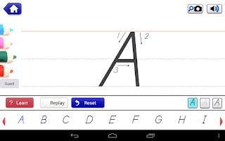 Screenshot of School Writing learn to write