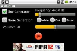 Screenshot of Speaker Test