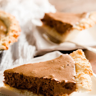 Chocolate Mousse Pie with Coconut Macaroon Crust