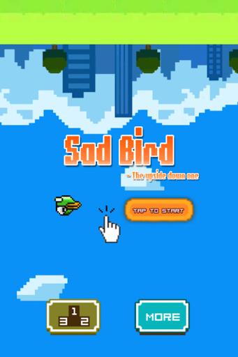Sad Bird - clappy upside down