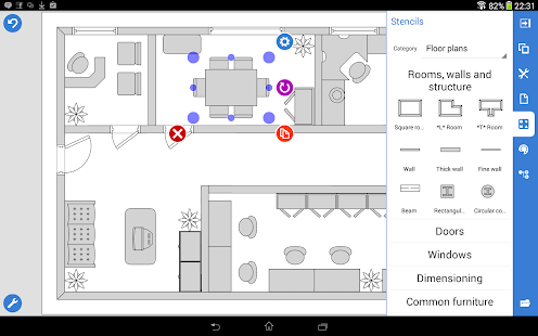 App grapholite floor plans app app for Wedding floor plan app
