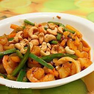 Tangy And Spicy Prawn Stir Fry.