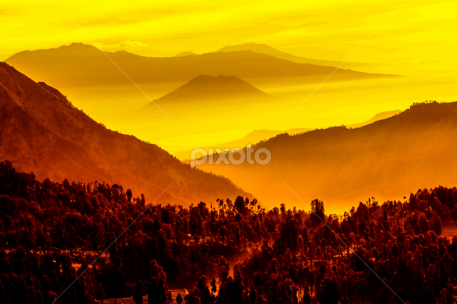 Mistical Mountains by OC Andoko - Landscapes Mountains & Hills ( hills, mountains, fog, sunrise, morning, mistic, , Earth, Light, Landscapes, Views )