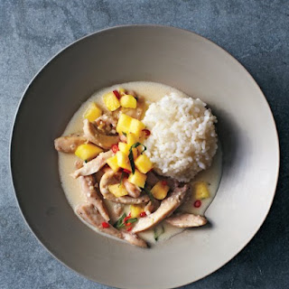 Thai Coconut Chicken with Pineapple Salsa.