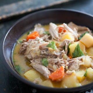 Slow-Cooked Turkey with Mustard Sauce