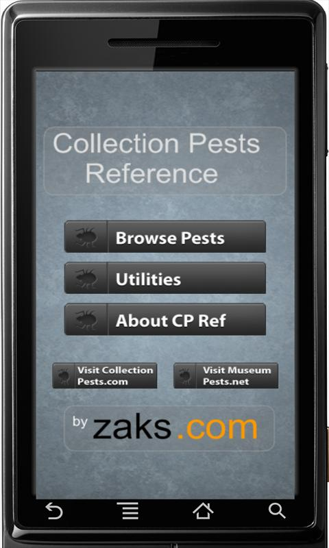 Collection Pests Reference- screenshot