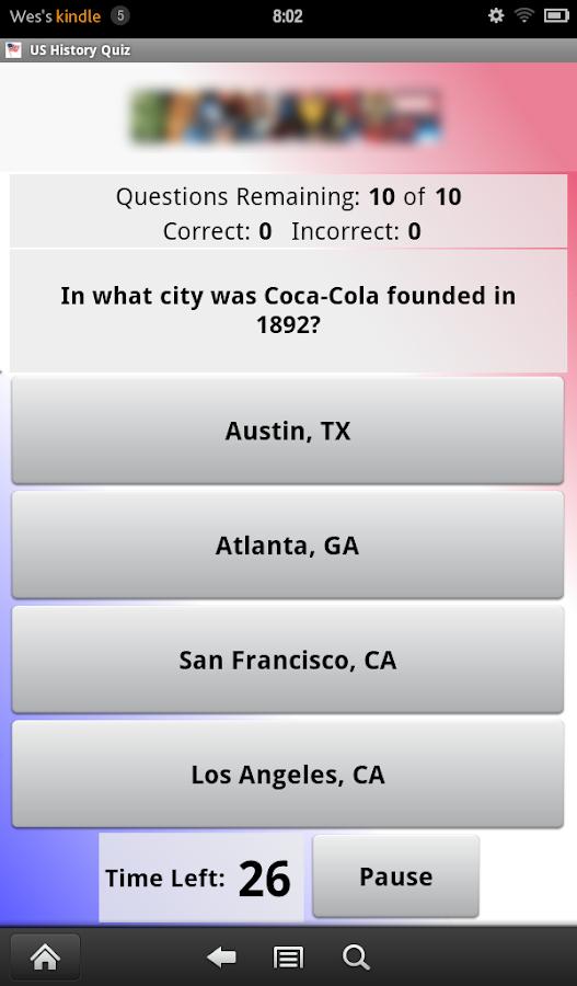 US History Quiz- screenshot