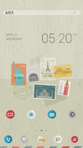 Stamp_dodol launcher theme