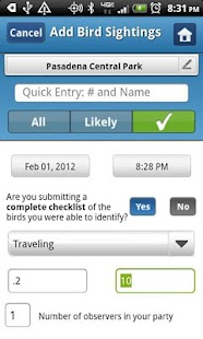 BirdLog Australia and NZ - screenshot thumbnail