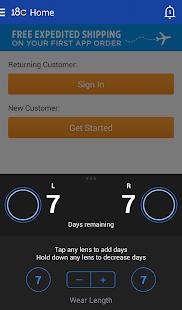 1800CONTACTS App - screenshot thumbnail