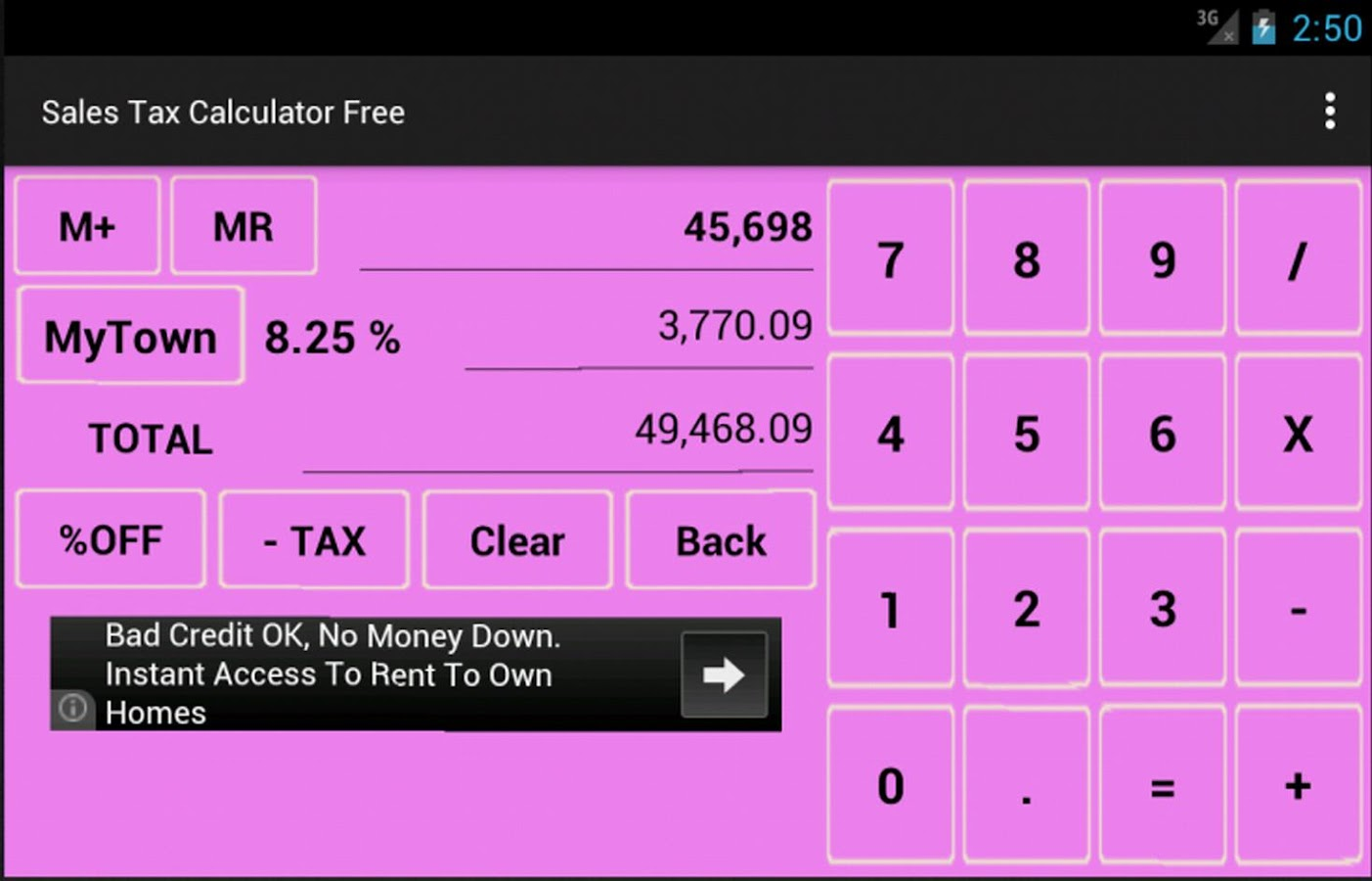 Sales Tax Calculator Free- screenshot
