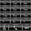 Dialer GlassMetalFrameSilver icon