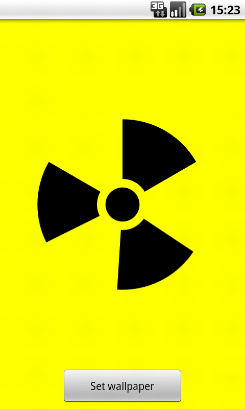 Nuclear Sign Wallpaper - screenshot