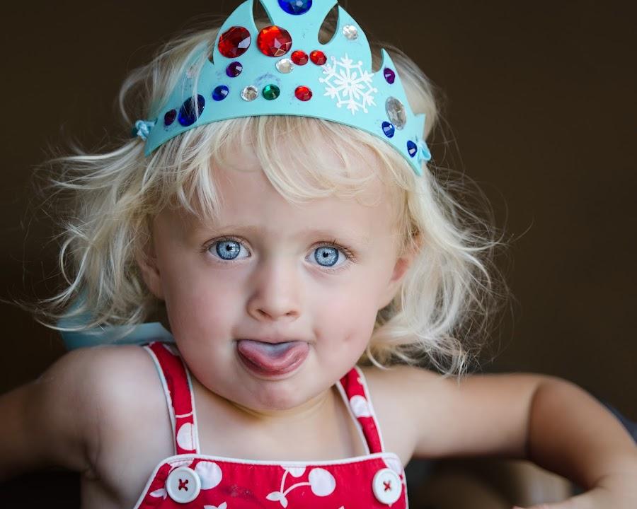 The Tongue by Nancy Arehart - Babies & Children Children Candids ( girls, princess, children, candid )