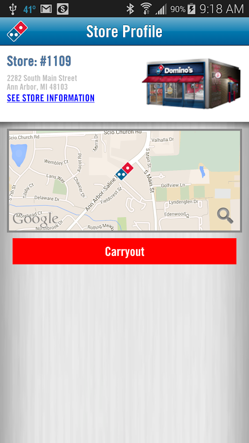 Domino's Pizza USA - screenshot