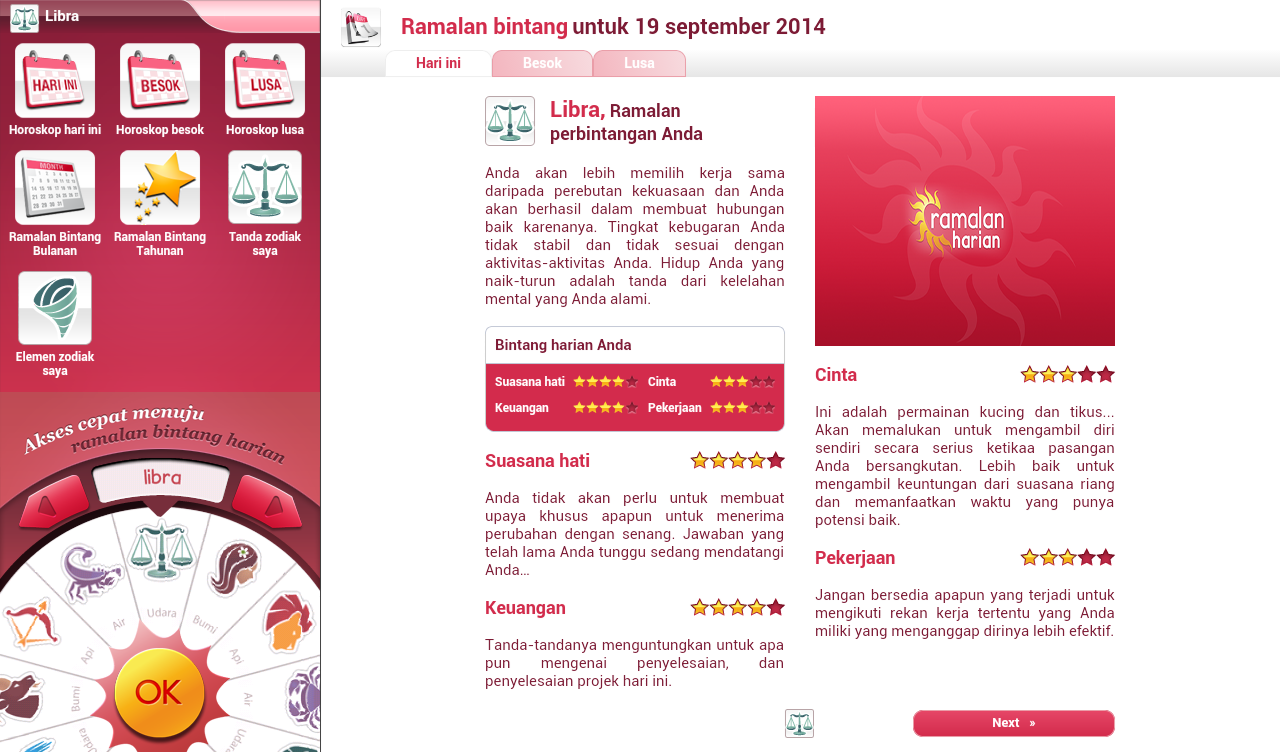 Ramalan Harian- screenshot