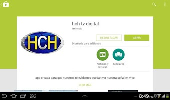 Screenshot of hch tv digital