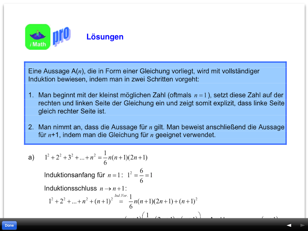 Mathematik-Aufgaben (iMath)- screenshot