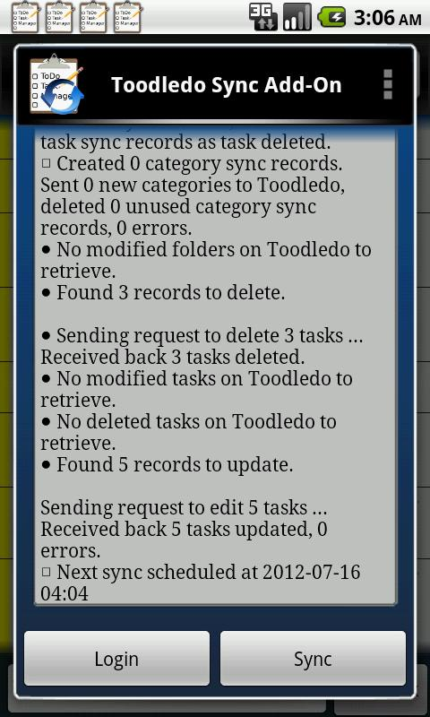 Toodledo.com Sync Add-on- screenshot