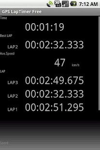 GPS LapTimer Lite - screenshot thumbnail