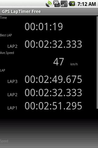 GPS LapTimer Lite - screenshot
